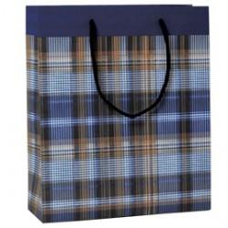 Shopper regalo SCOZZESE BLU 30x36x12cm Kartos