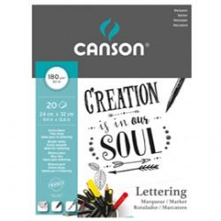Blocco Lettering Marker 24x32 cm 30 fg. 180 gr. Canson