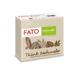 50 tovaglioli carta 25x25cm 2 veli Linea Drink Natural Fato